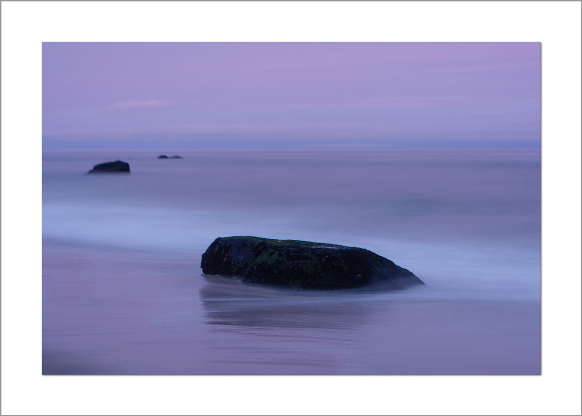 5x7 Photo Card: Lucy Vincent Beach Purple Rocks