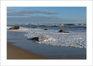 5x7 Photo Card: Lucy Vincent Beach Rocks and Waves