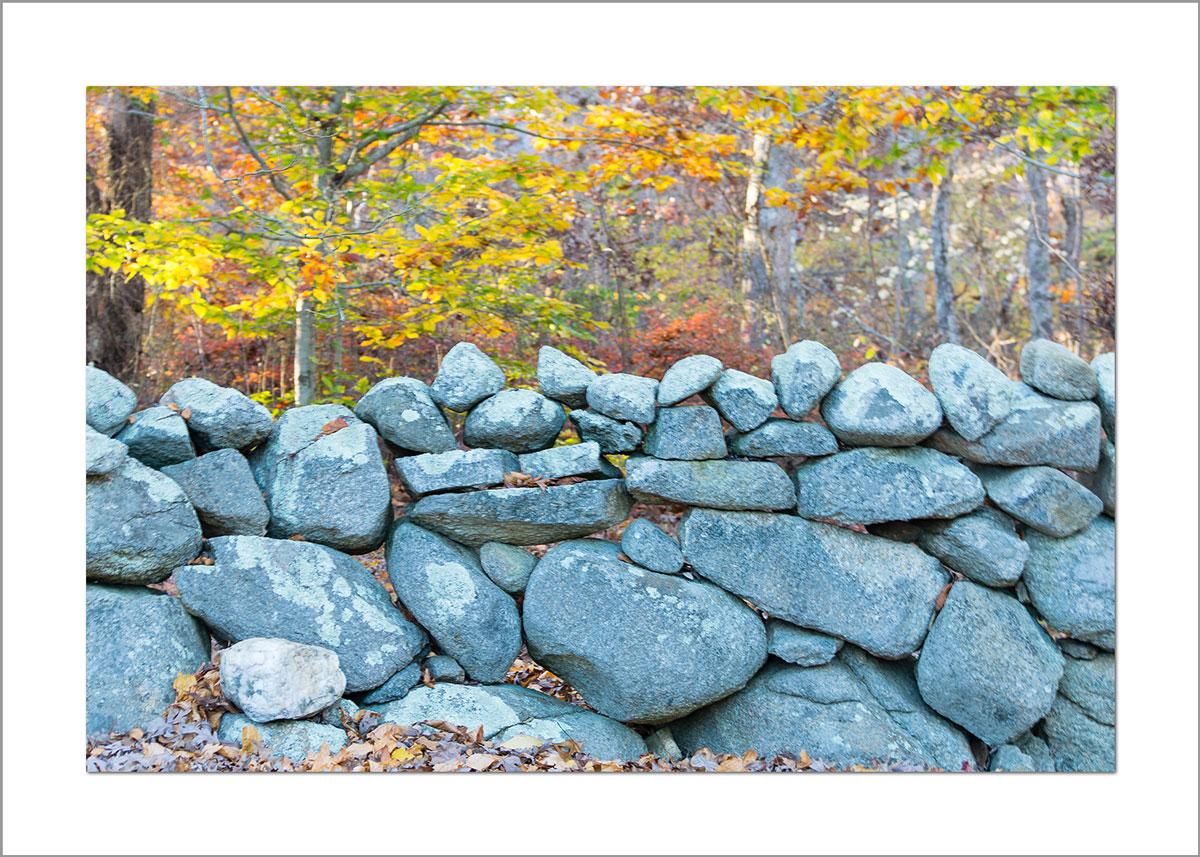 5x7 Photo Card: Stone Wall in Fall