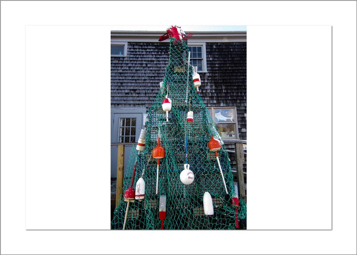 5x7 Photo Card: Buoy Christmas Tree