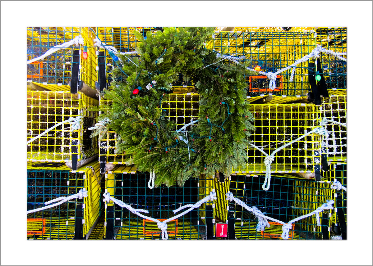 5x7 Photo Card: Wreath on Cages