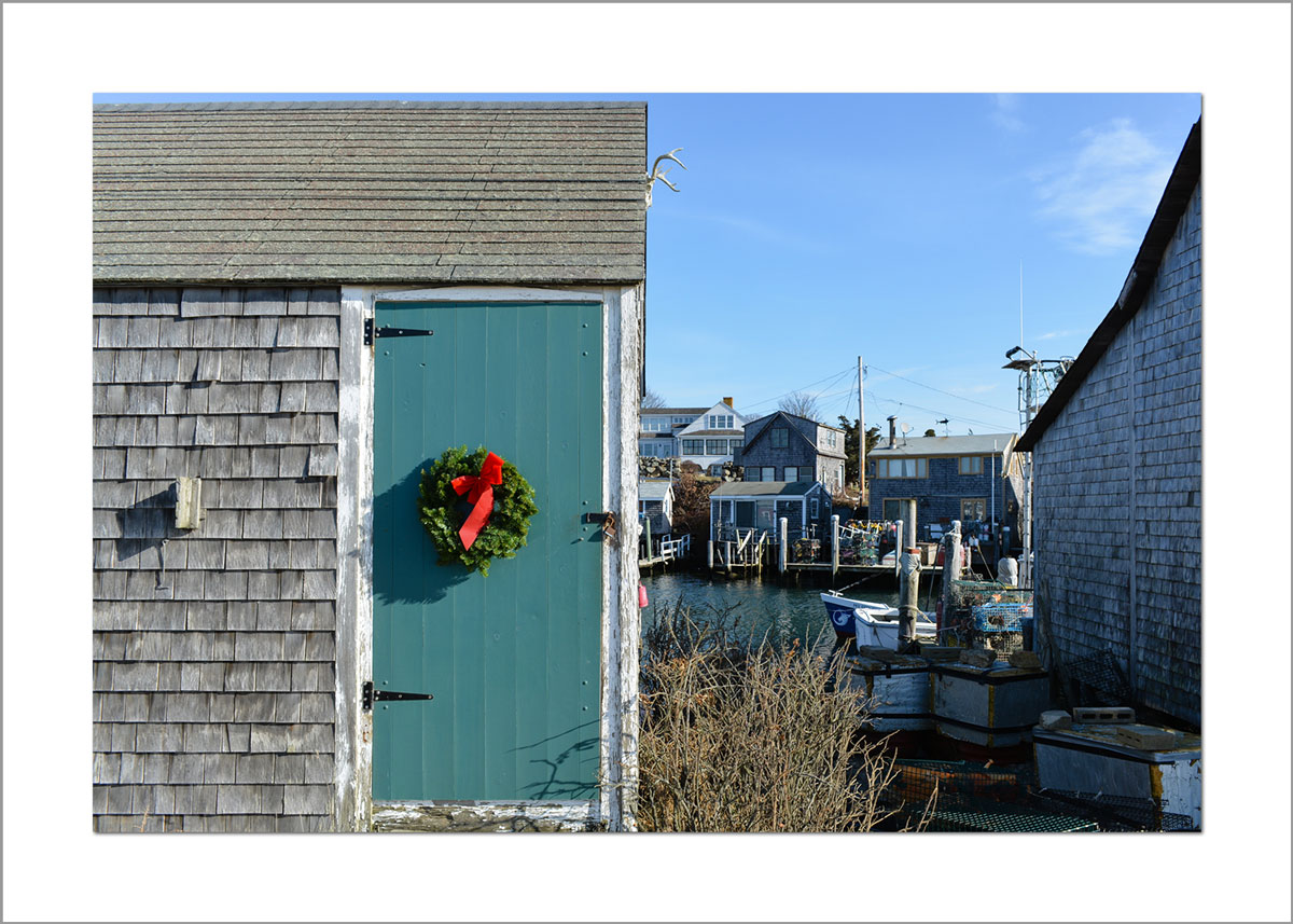5x7 Photo Card: Wreath on Fishing Shack
