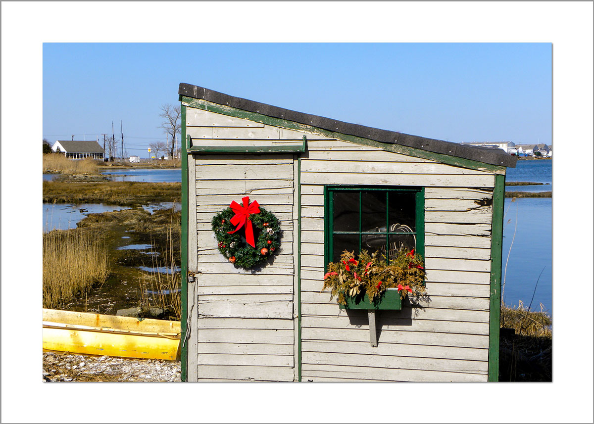 5x7 Photo Card: Wreath on Scallop Shack 2