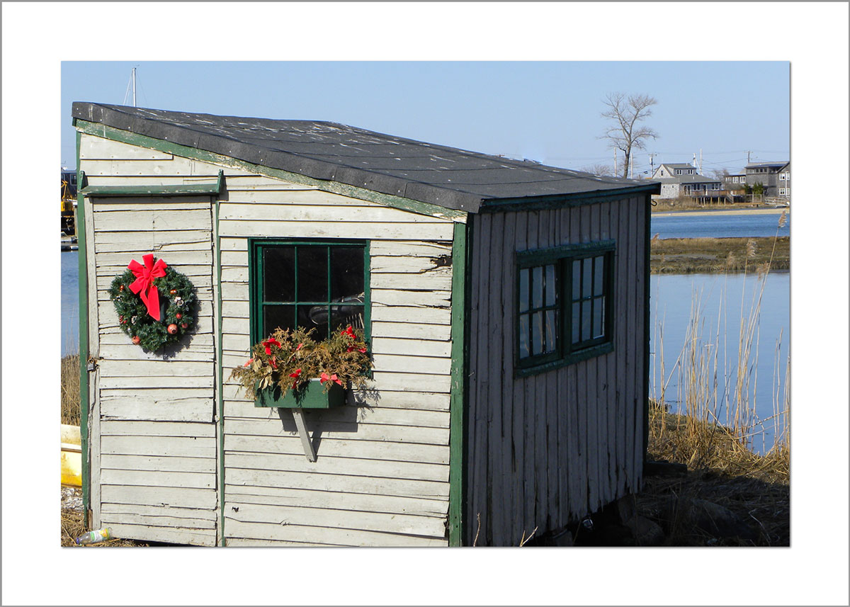 5x7 Photo Card: Wreath on Scallop Shack