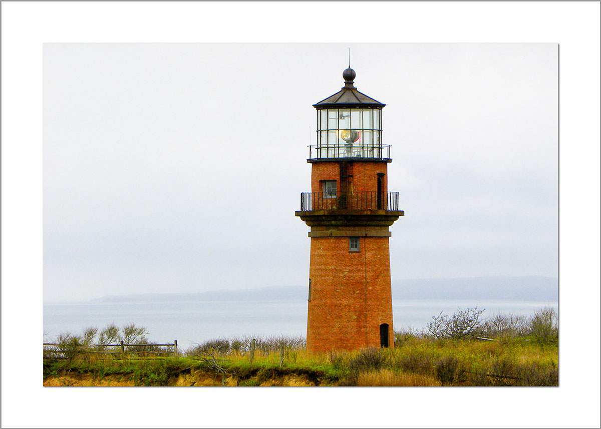 5x7 Photo Card: Gay Head Lighthouse Close Up