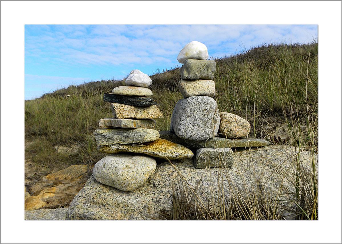 5x7 Photo Card: Rocks at Cedar Tree Neck