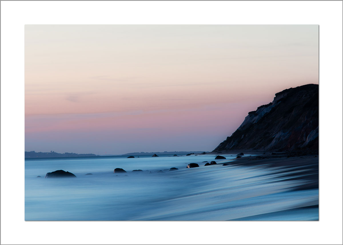 5x7 Photo Card: Aquinnah Cliffs Sunset