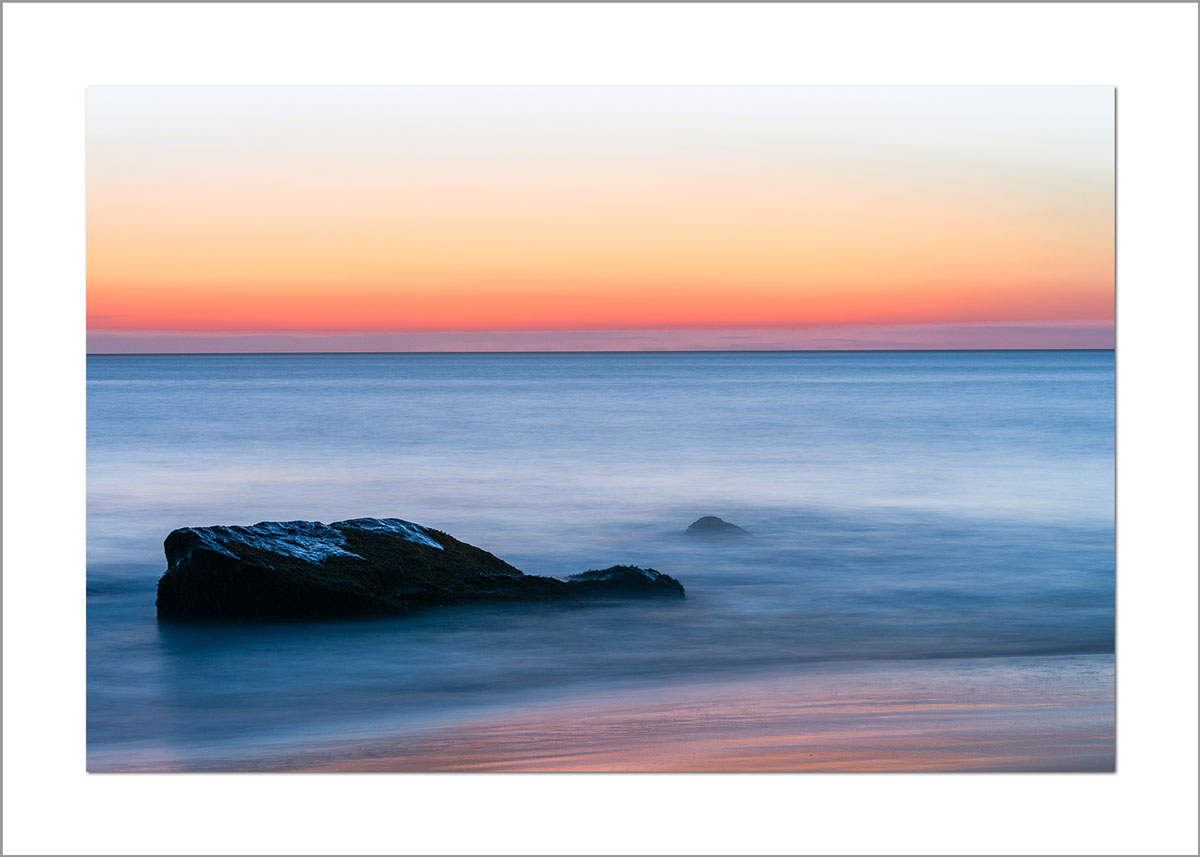 5x7 Photo Card: Aquinnah Rocks Sunset