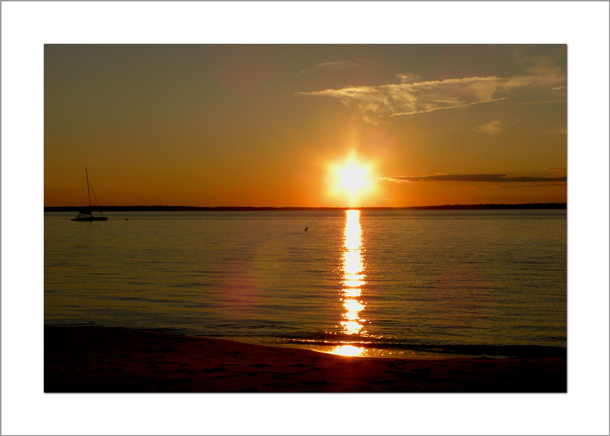 5x7 Photo Card: Lambert's Cove Star Sunset