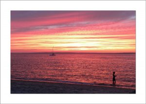 5x7 Photo Card: Lambert's Cove Sunset with Boy