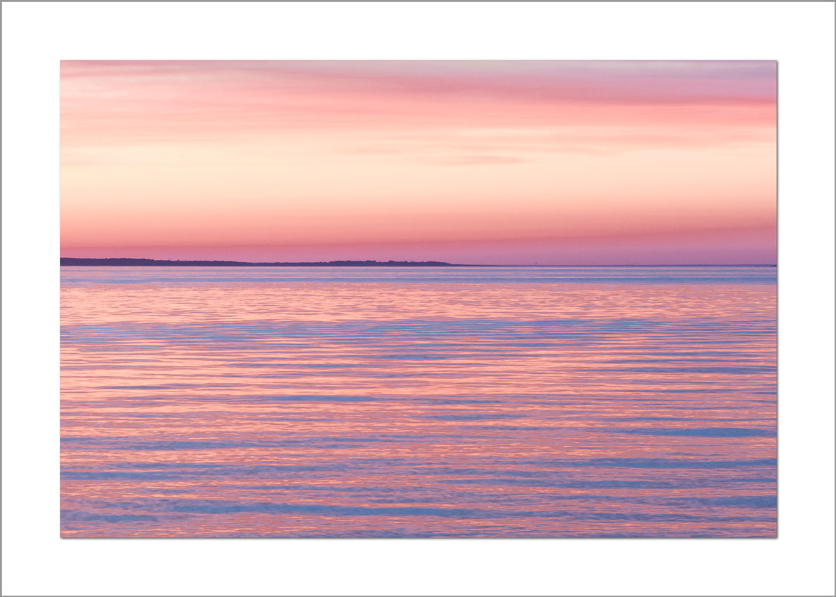 5x7 Photo Card: Menemsah Pink and Orange Sunset