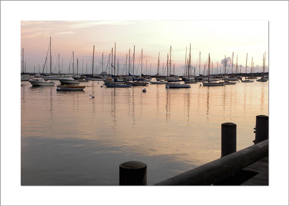 5x7 Photo Card: Sunrise Vineyard Haven Harbor