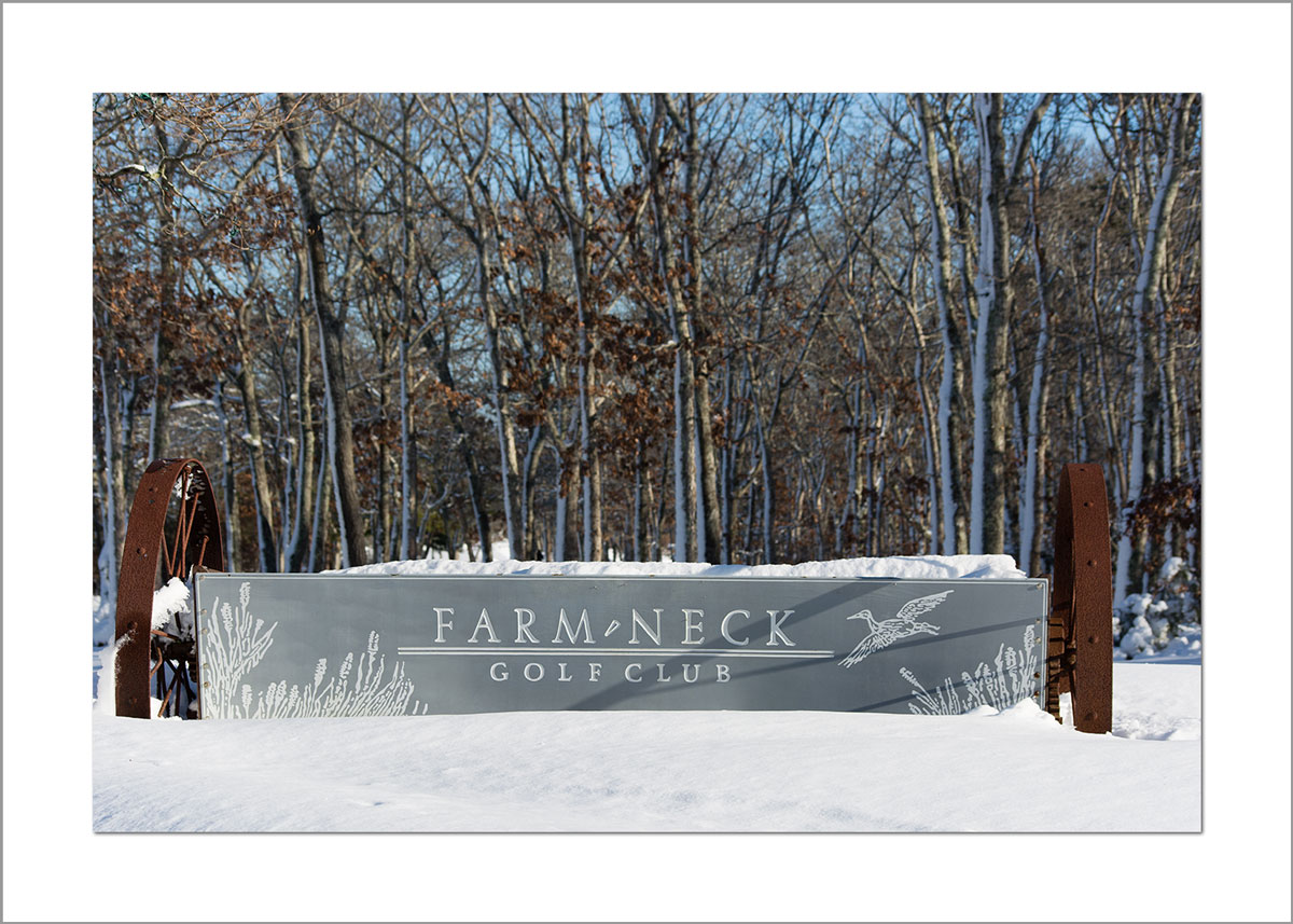 5x7 Photo Card: Farm Neck in Winter