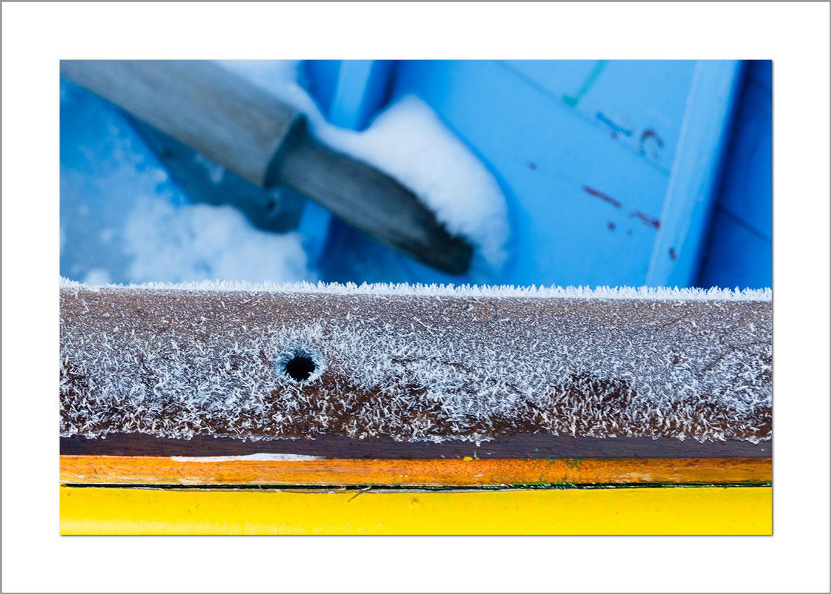 5x7 Photo Card: Snowy Boat