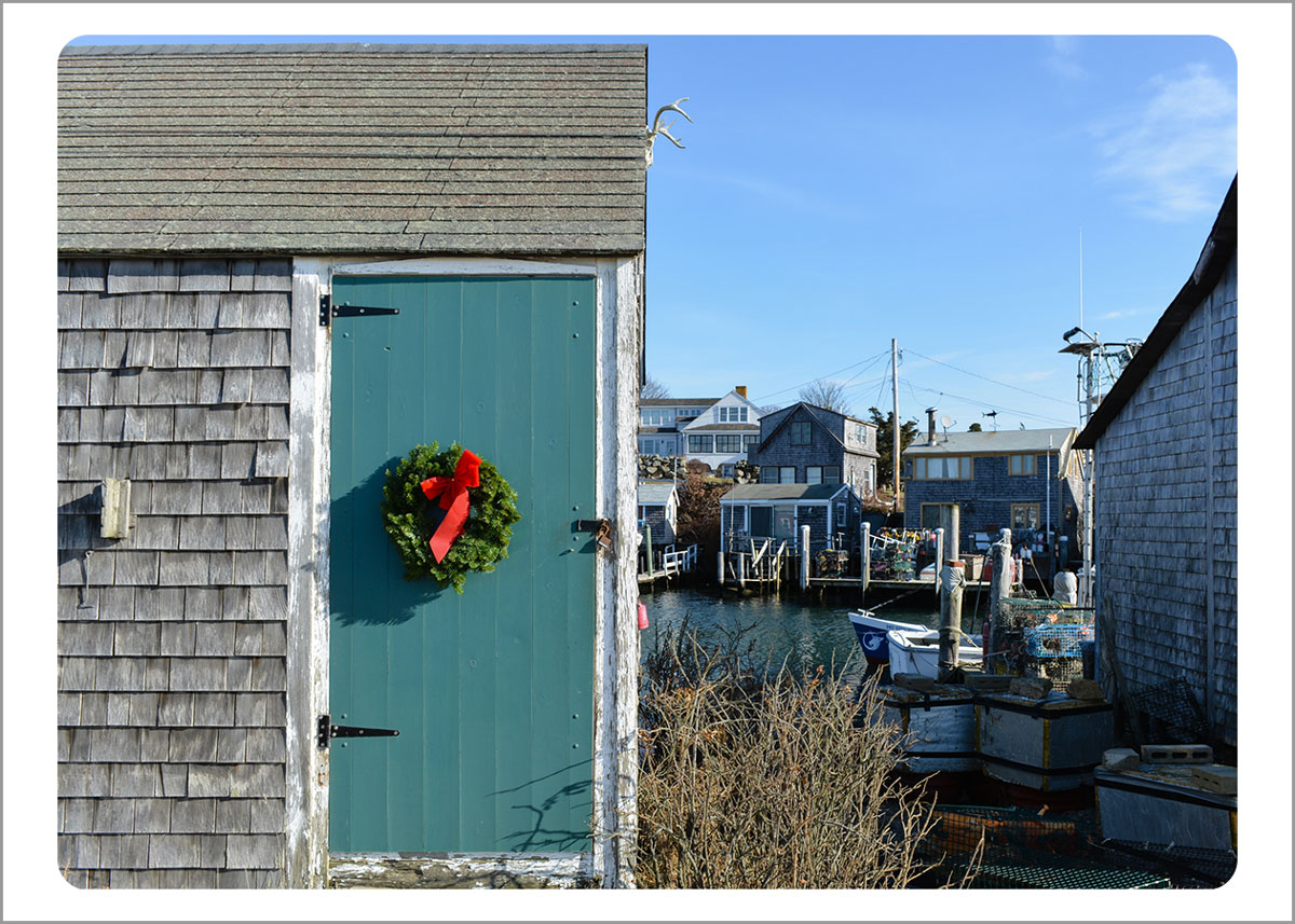 Boxed Gift Enclosures: Wreath on Fishing Shack (Box of 5)