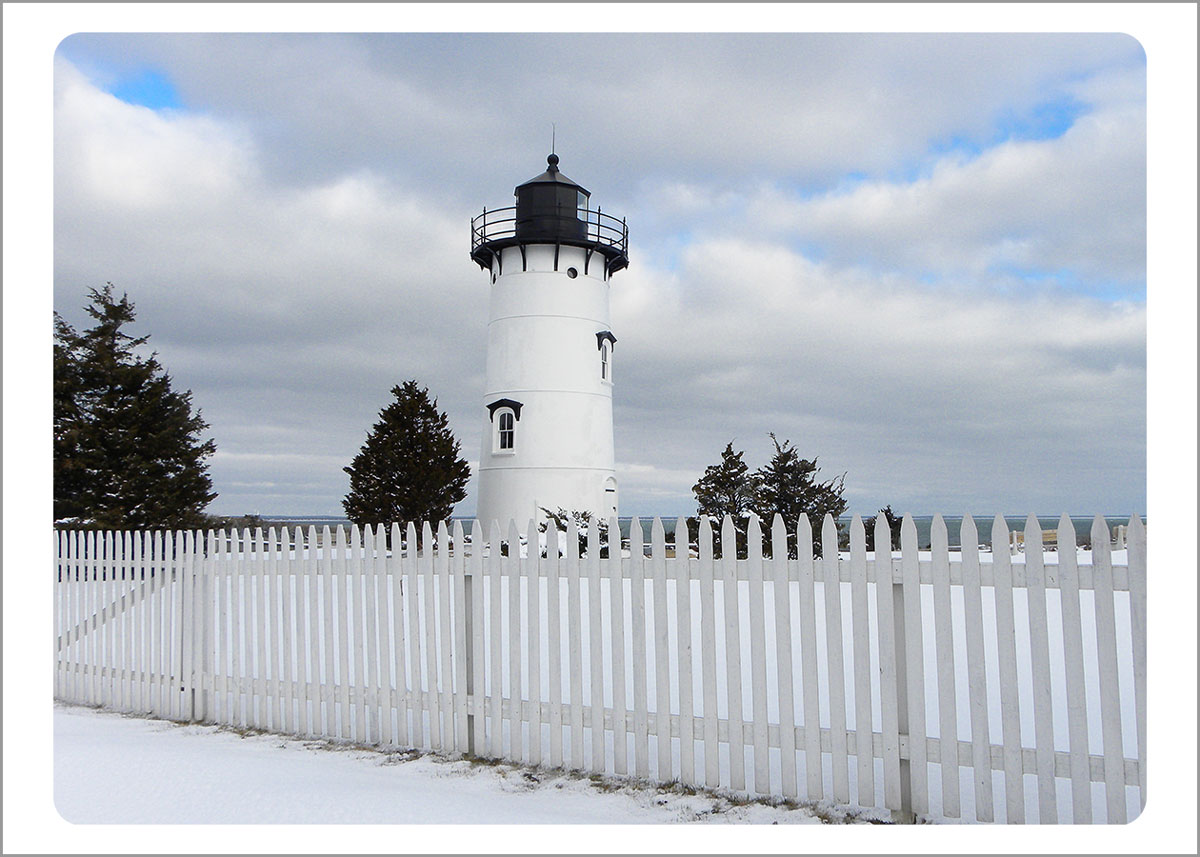 Boxed Gift Enclosures: East Chop Lighthouse in the Snow (Box of 5)