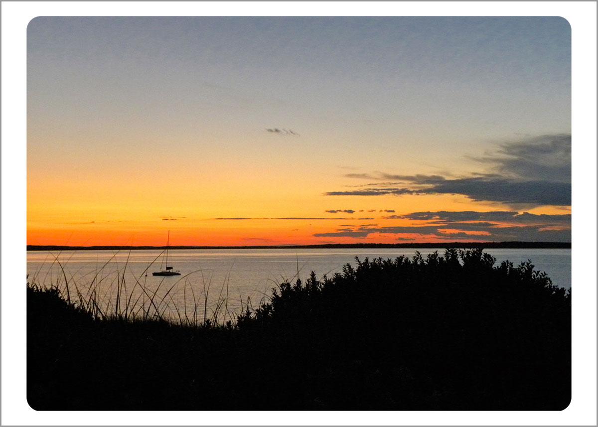 Boxed Gift Enclosures: Lambert's Cove Sunset (Box of 5)