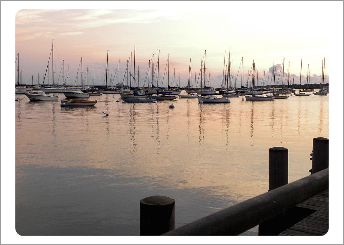 Boxed Gift Enclosures: Sunrise Vineyard Haven Harbor (Box of 5)