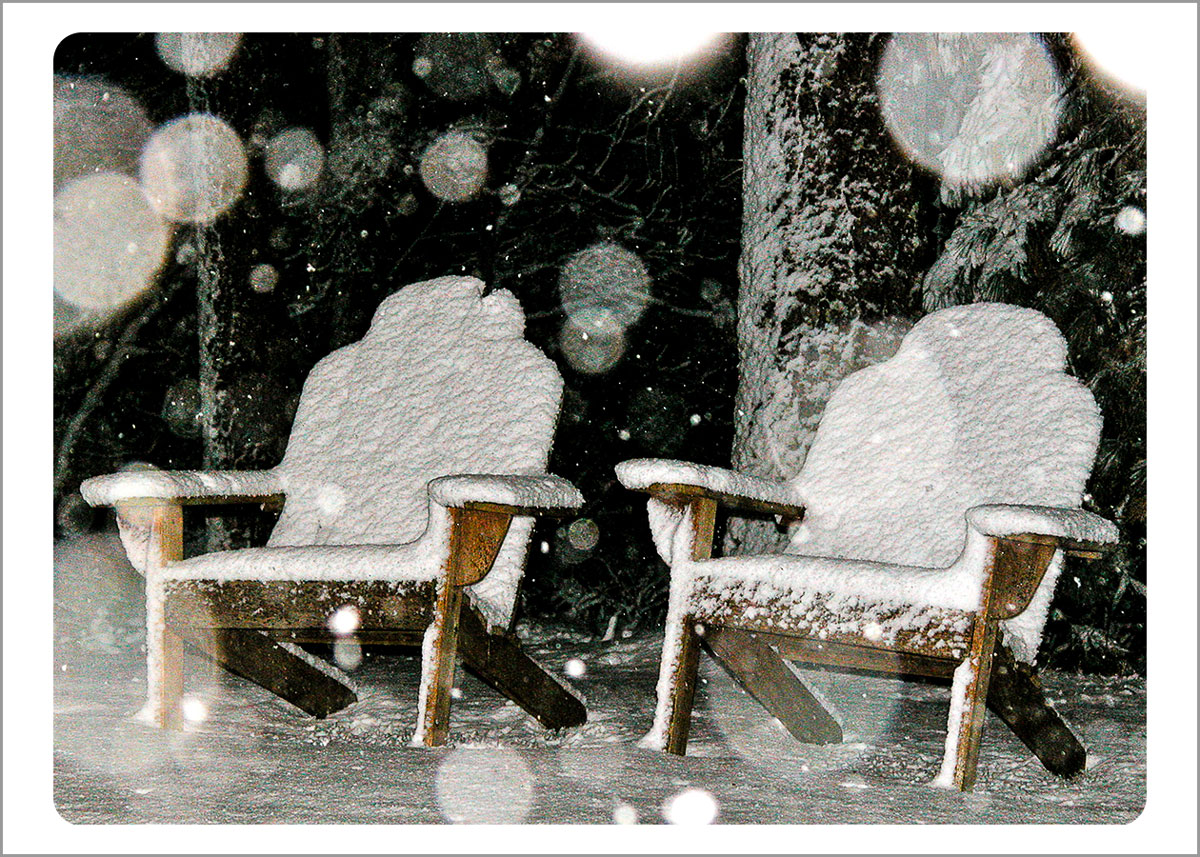 Boxed Gift Enclosures: Chairs in Snow (Box of 5)
