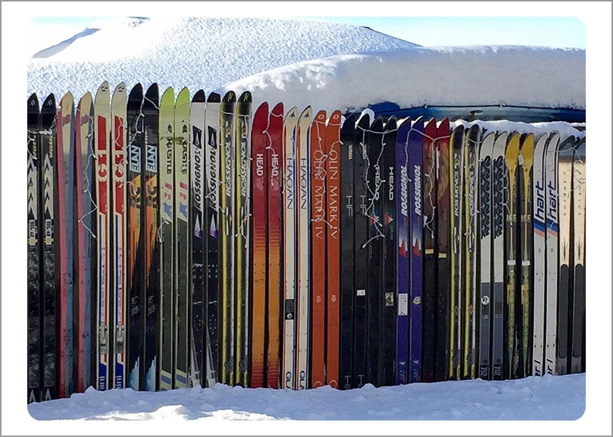Boxed Gift Enclosures: Skiing Down Barnes Road (Box of 5)