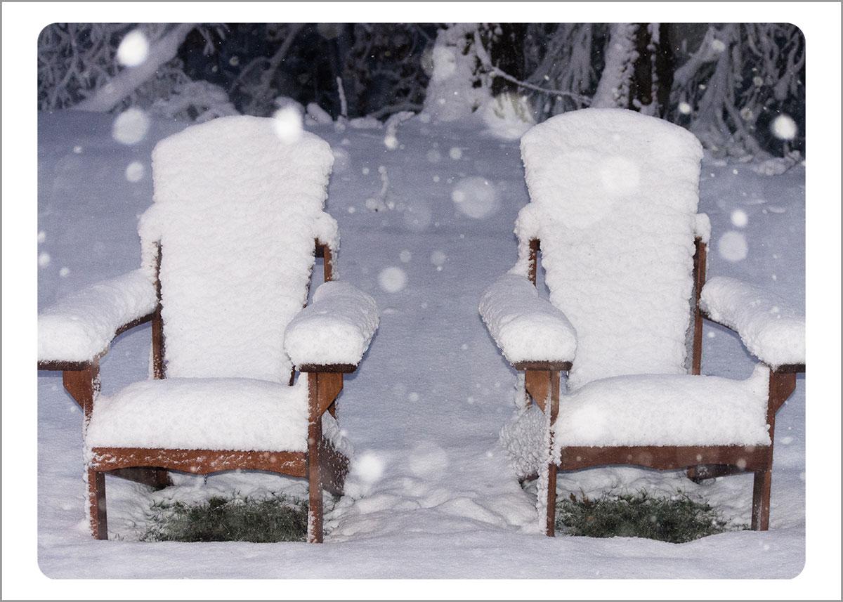 Boxed Gift Enclosures: Snowy Adirondacks (Box of 5)