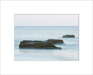 Matted 5x7 Photo: Aquinnah 3 Rocks