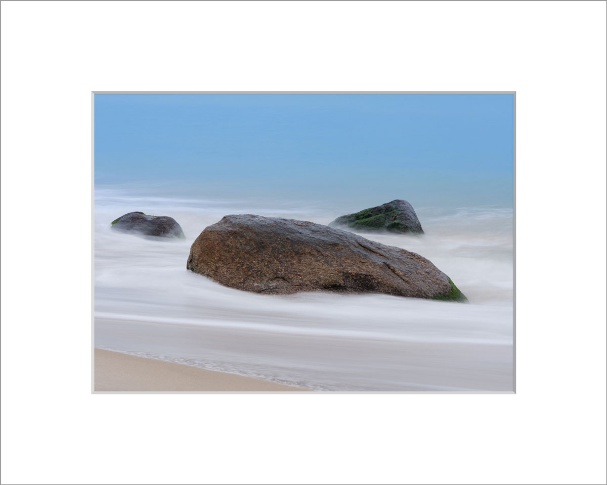 Matted 5x7 Photo: Aquinnah Beach, Rocks, Sand