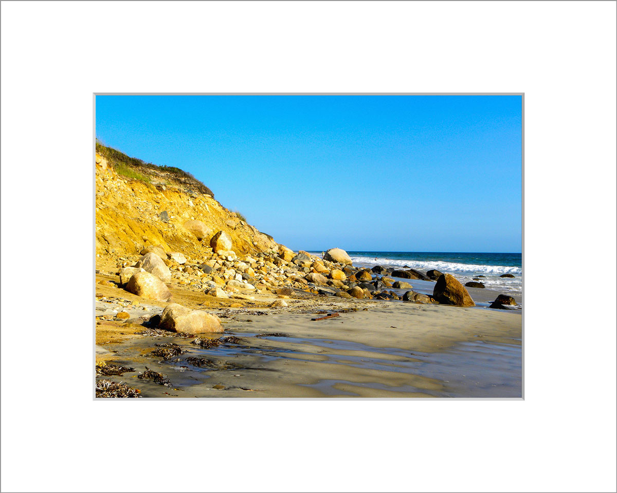 Matted 5x7 Photo: Aquinnah Cliffs and Beach