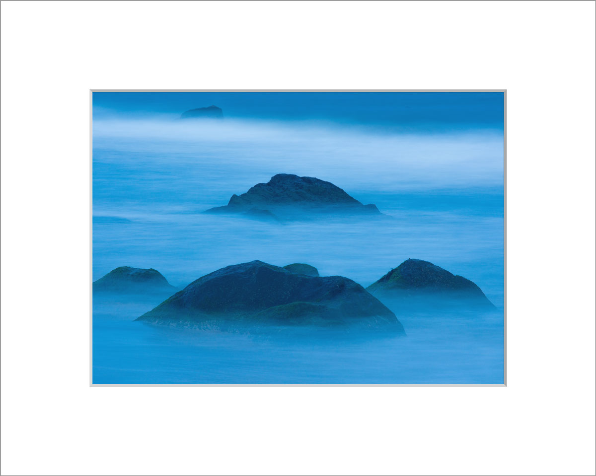 Matted 5x7 Photo: Blue Rocks
