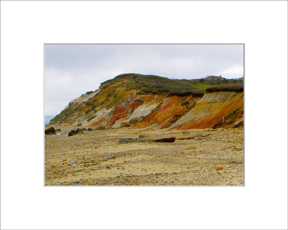 Matted 5x7 Photo: Colored Cliffs