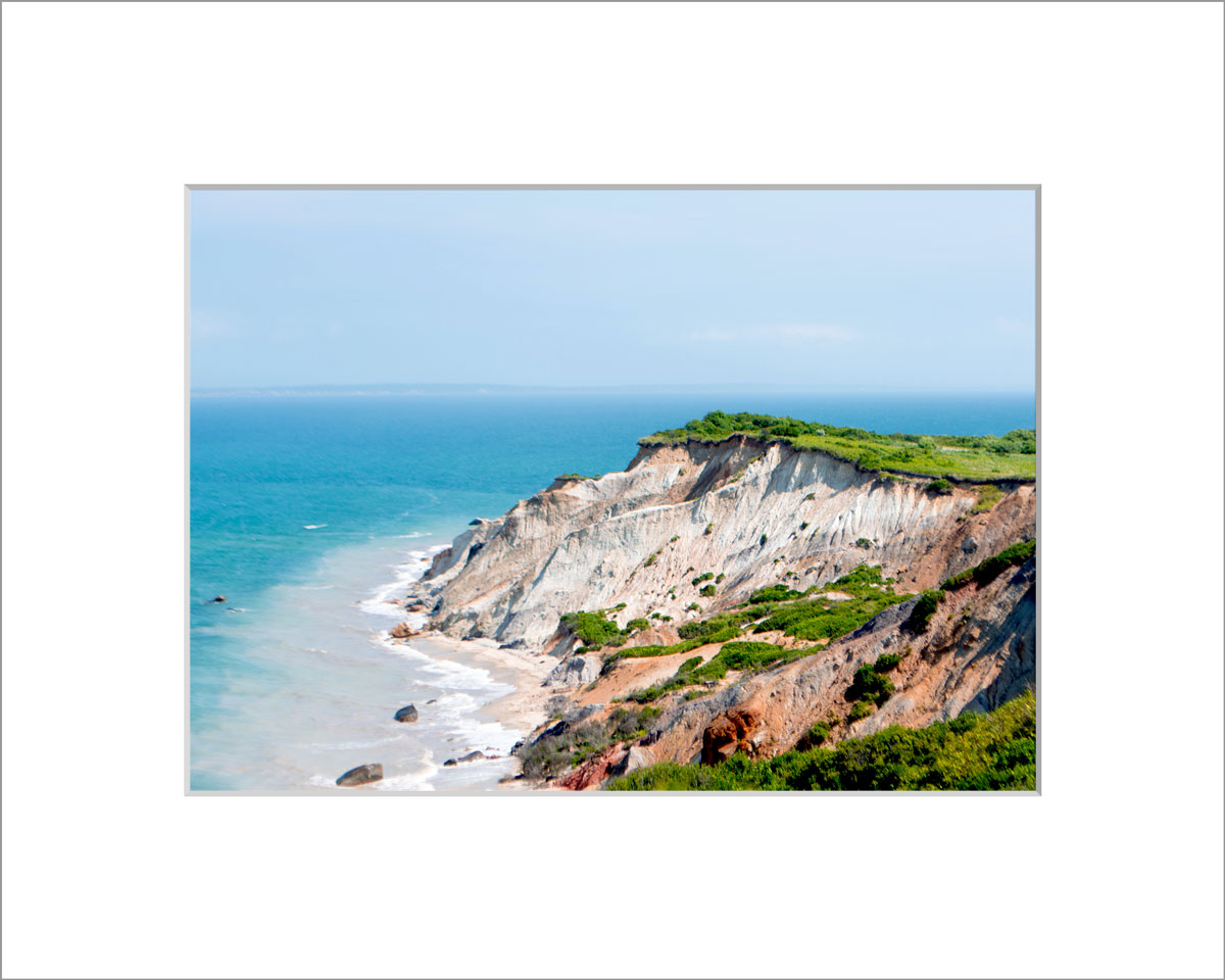 Matted 5x7 Photo: Gay Head Cliffs 2