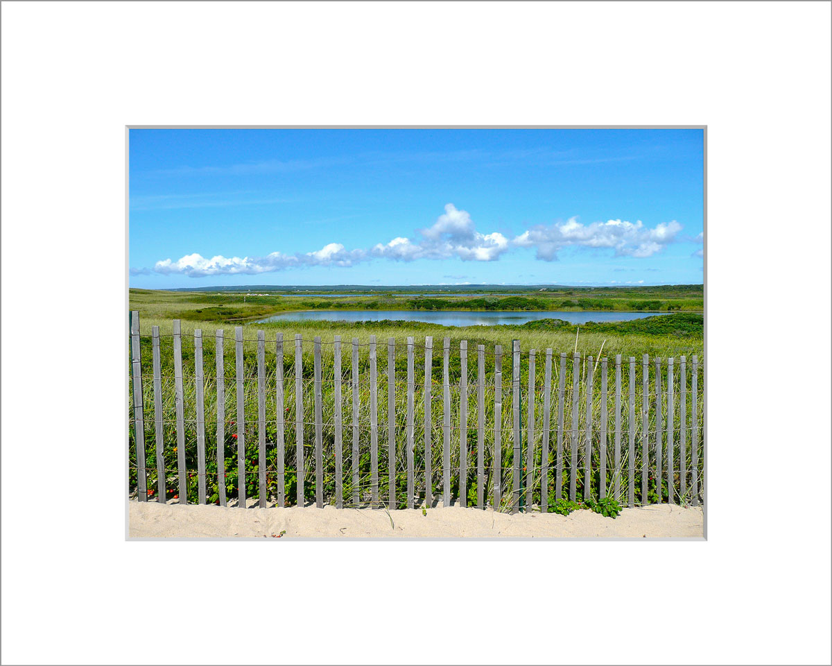 Matted 5x7 Photo: Long Point View from Fence