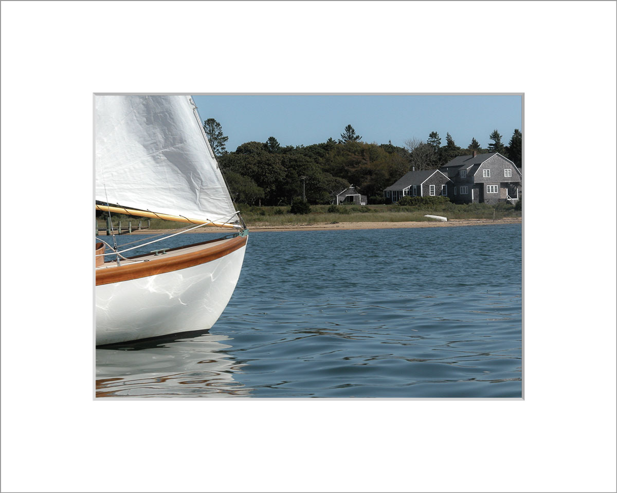 Matted 5x7 Photo: Edgartown Sailboat