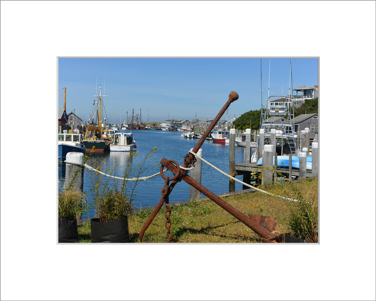Matted 5x7 Photo: Menemsha Anchor