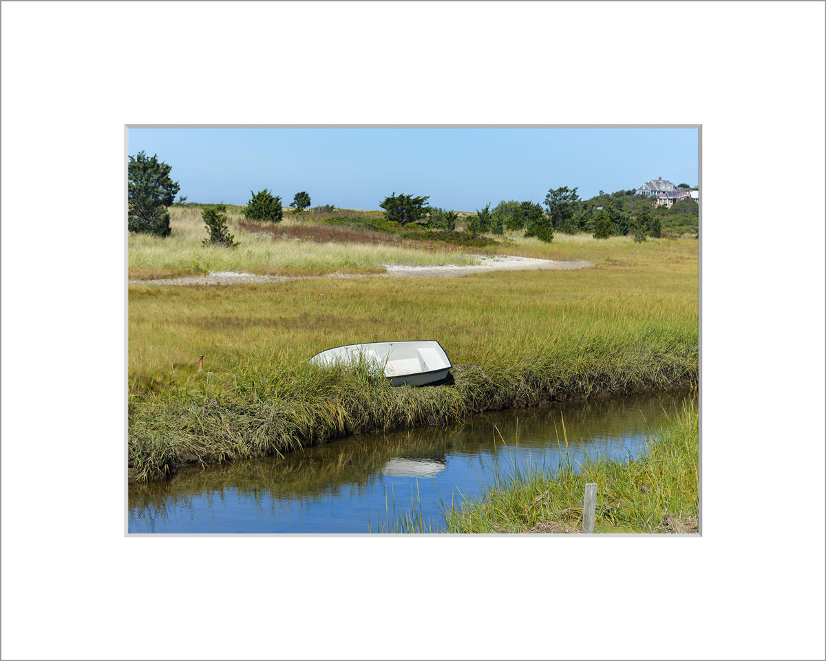 Matted 5x7 Photo: Menemsha Rowboat