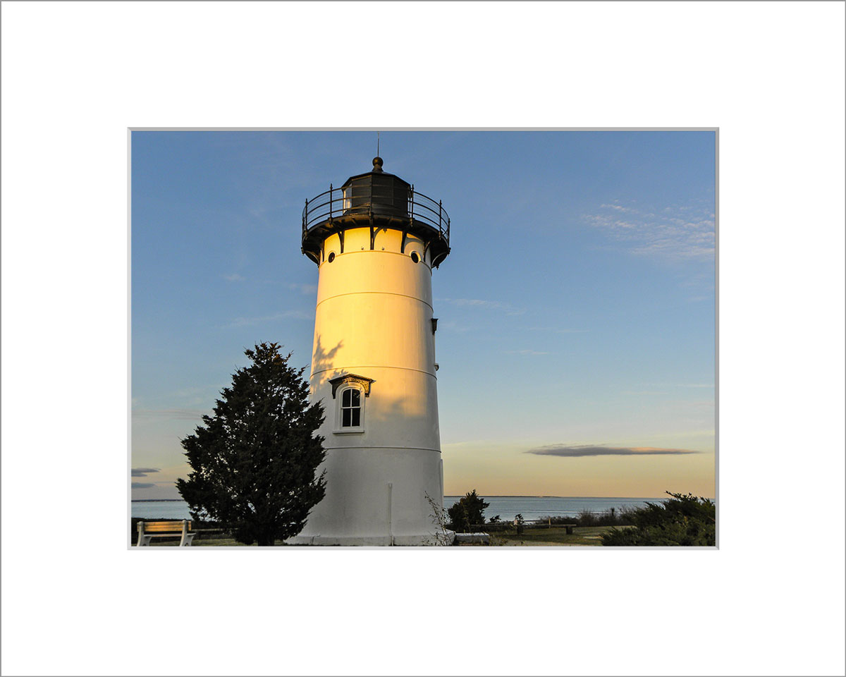 Matted 5x7 Photo: East Chop Lighthouse