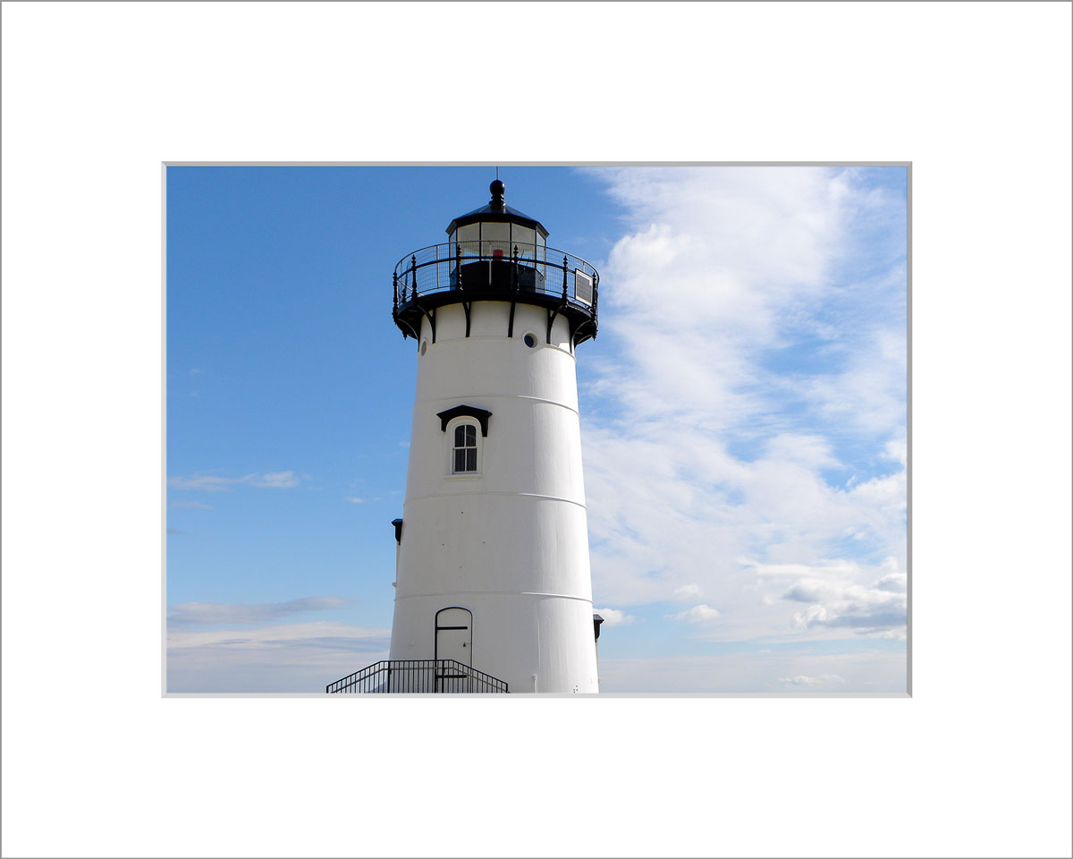 Matted 5x7 Photo: Edgatown Lighthouse
