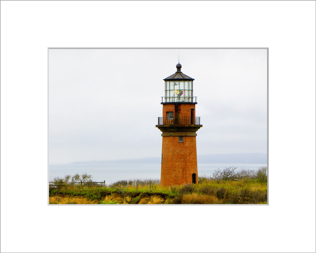 Matted 5x7 Photo: Gay Head Lighthouse Close Up