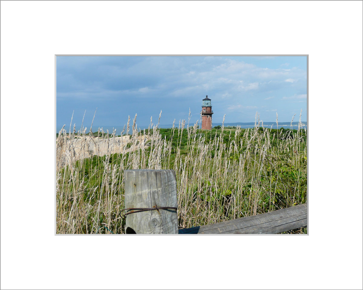Matted 5x7 Photo: Gay Head Lighthouse and Cliffs