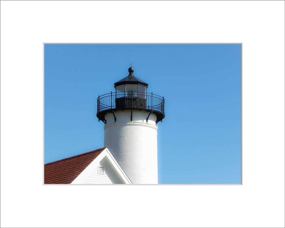 Matted 5x7 Photo: West Chop Lighthouse