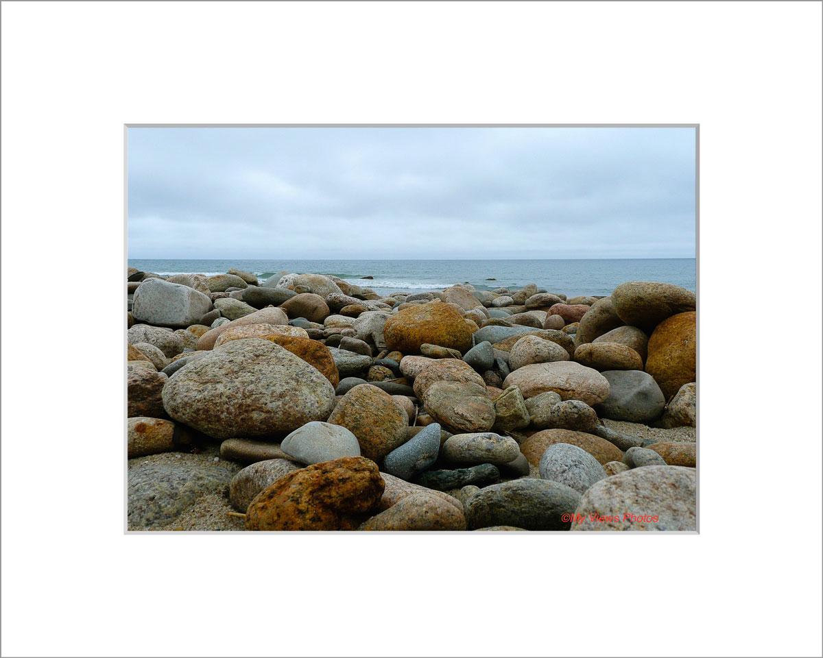Matted 5x7 Photo: Moshup Beach Rocks copy