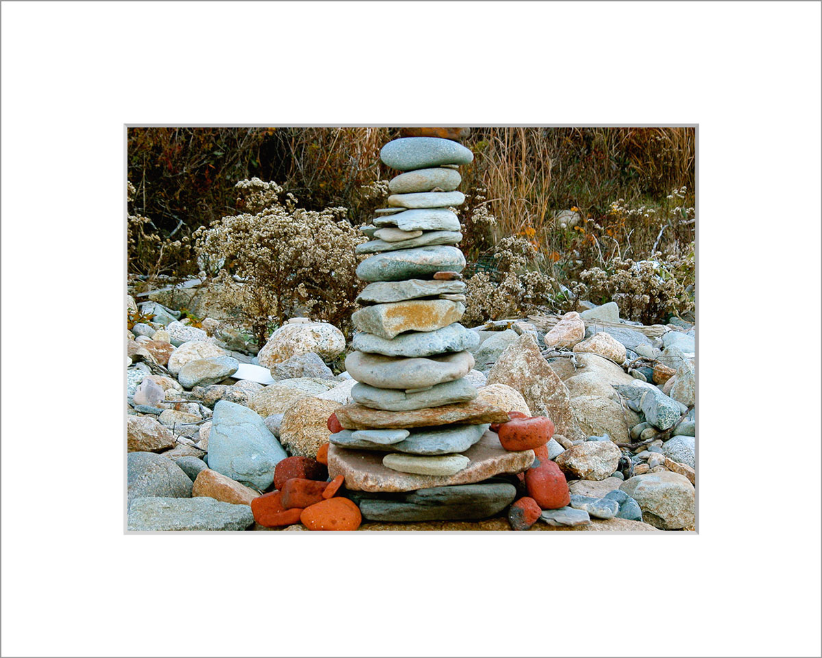 Matted 5x7 Photo: Rock Pile