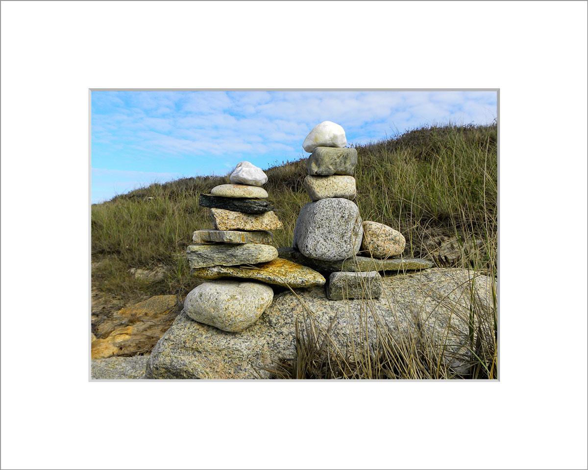 Matted 5x7 Photo: Rocks at Cedar Tree Neck