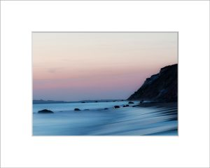 Matted 5x7 Photo: Aquinnah Cliffs Sunset