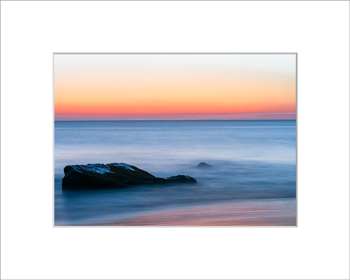 Matted 5x7 Photo: Aquinnah Rocks Sunset