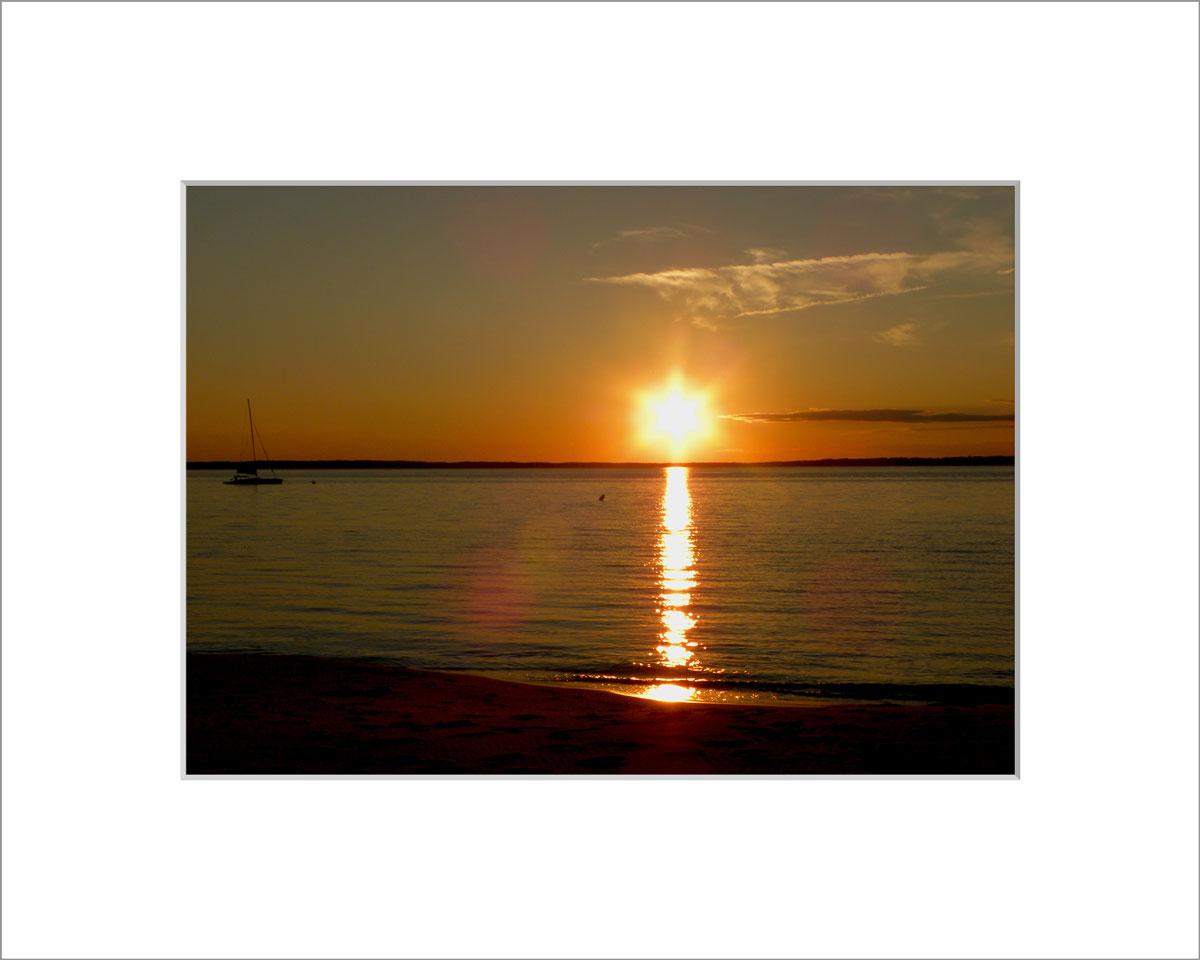 Matted 5x7 Photo: Lambert's Cove Star Sunset