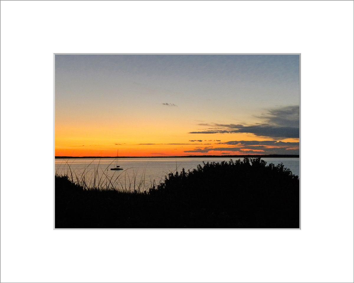 Matted 5x7 Photo: Lambert's Cove Sunset