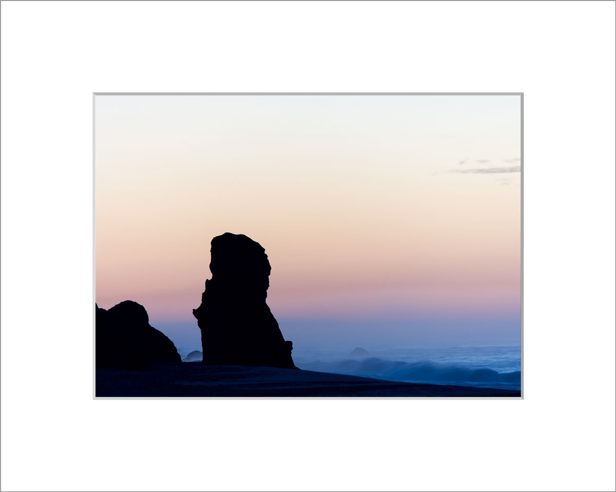 Matted 5x7 Photo: Lucy Vincent Sunrise Over Cliff