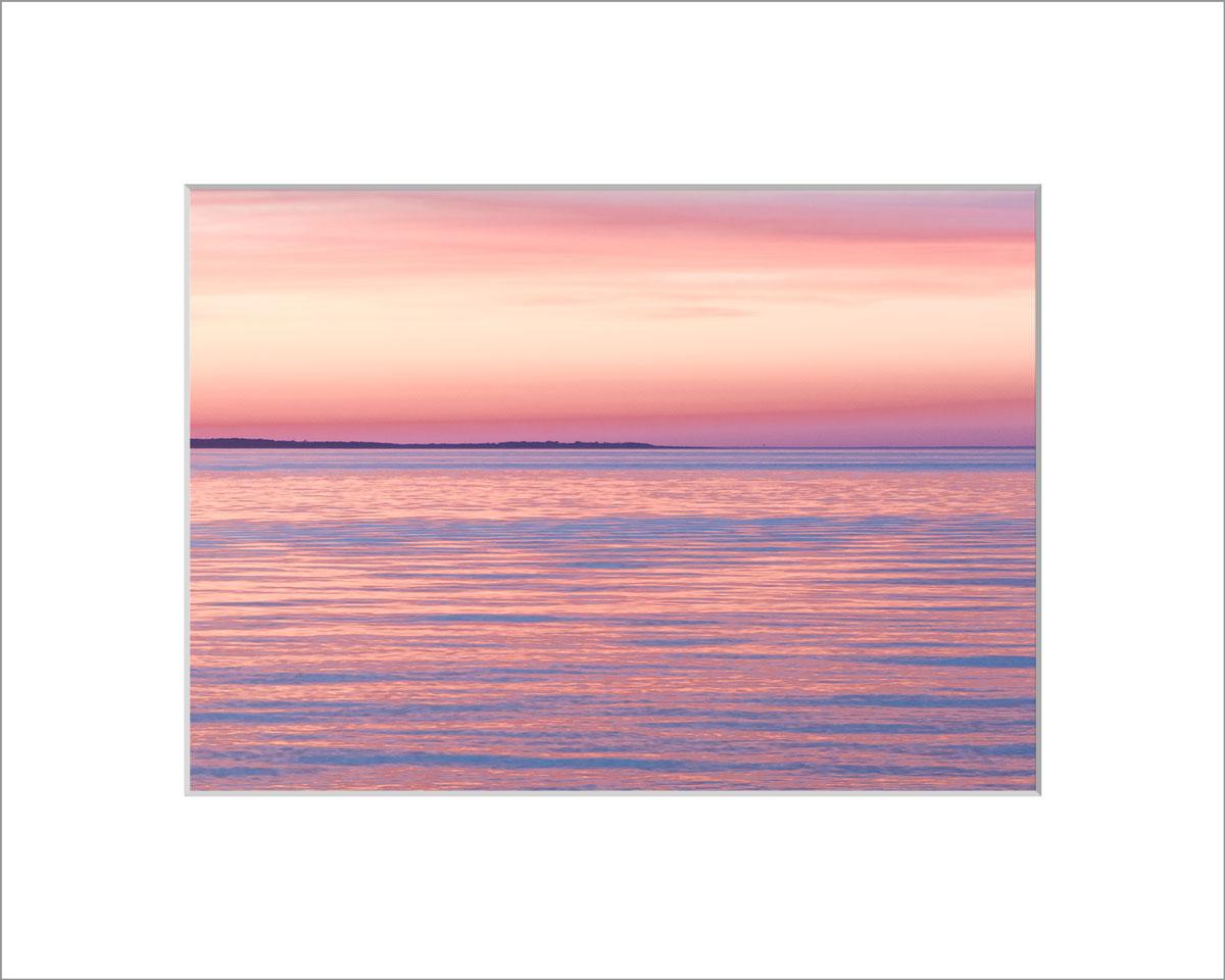 Matted 5x7 Photo: Menemsah Pink and Orange Sunset