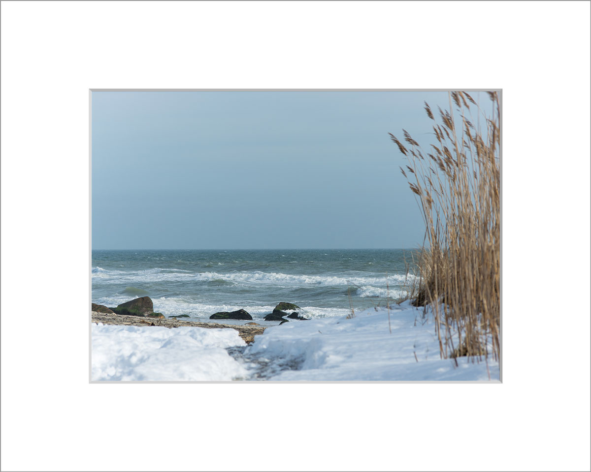 Matted 5x7 Photo: Lucy Vincent Beach Snow